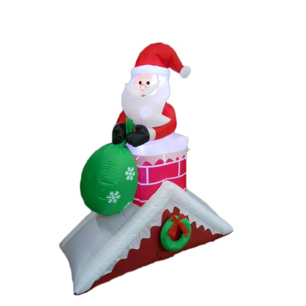 Santa Claus on Roof Christmas Decoration by BZB Goods