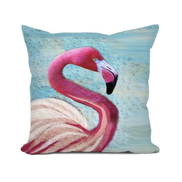 Sunikka Flamingo Throw Pillow by Bayou Breeze