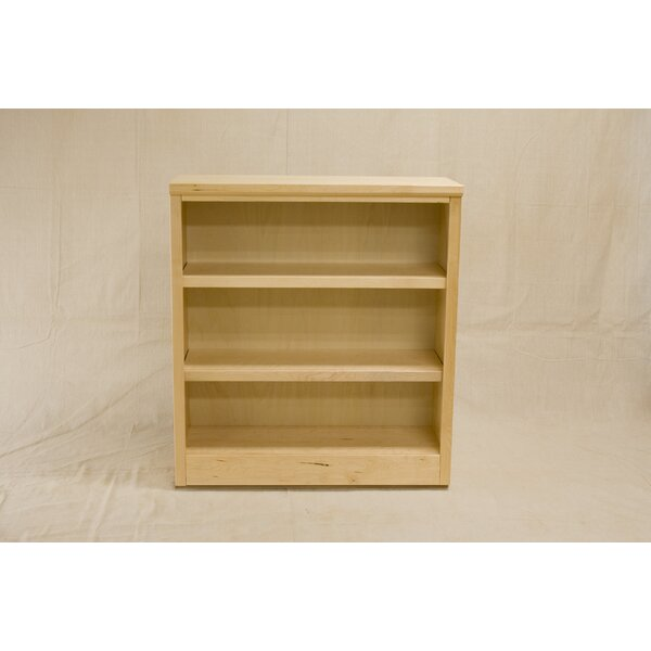 Cunha 3 Shelf Urban Maple Standard Bookcase by Darby Home Co