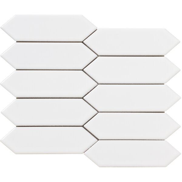 Elixir 2 x 4 Porcelain Mosaic Tile in White by Emser Tile