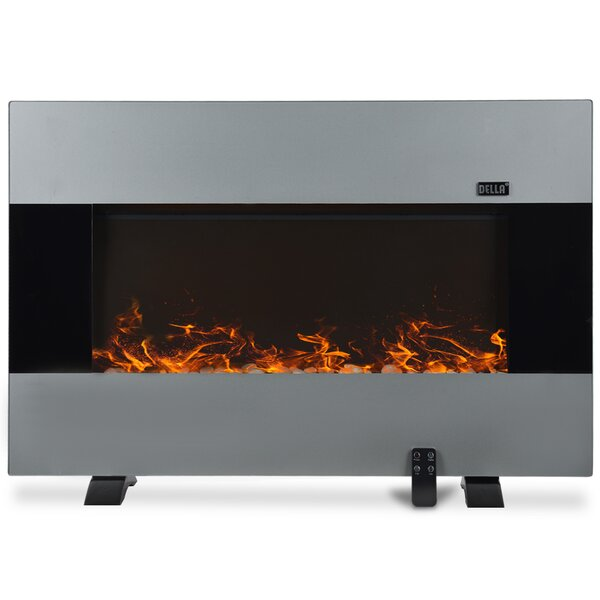 1500W Wall Mounted Electric Fireplace by Della