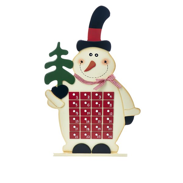 Snowman Wooden Advent Calendar by Kurt Adler