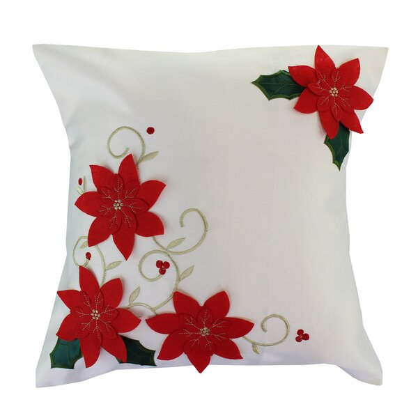 Broderick Christmas Embroidery Pillow Cover by The Holiday Aisle