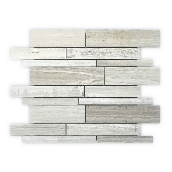 Timber Wood Strips 12 x 12 Marble Mosaic Tile