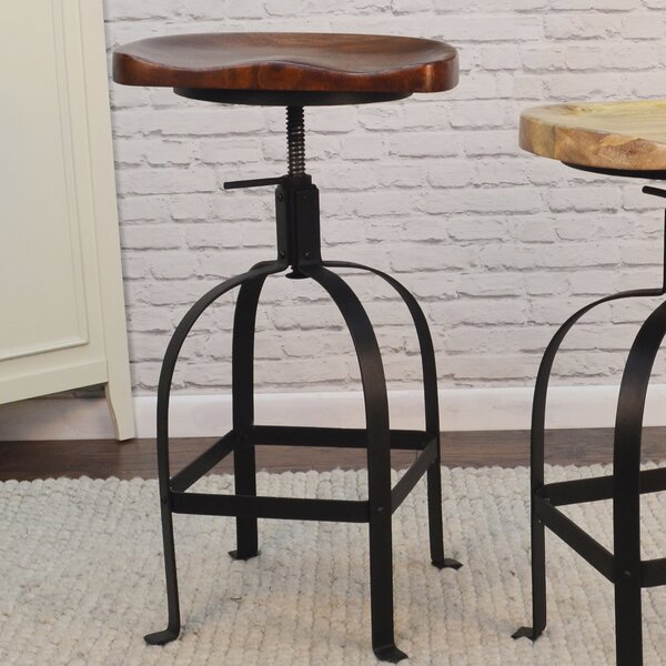 Bernardsville Adjustable Height Swivel Bar Stool by Gracie Oaks