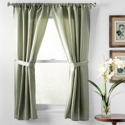 wayfair window treatments wayfair basics solid semisheer rod pocket bathroom curtain panels basics