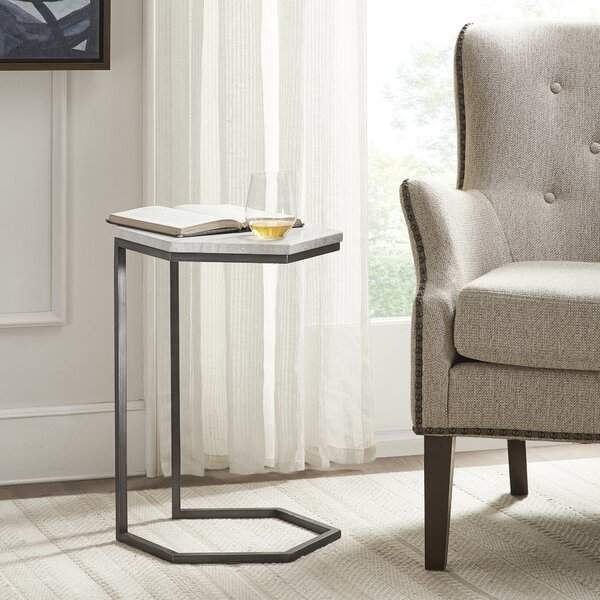 Mcdougald Marble Top Frame End Table By Ivy Bronx