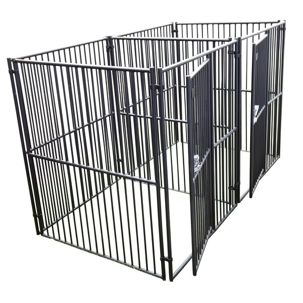 European Style 2 Run Wide Yard Kennel by Jewett Cameron