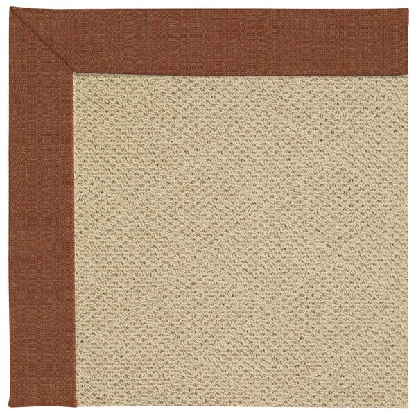 Lisle Machine Tufted Dried Chilis/Beige Indoor/Outdoor Area Rug by Longshore Tides
