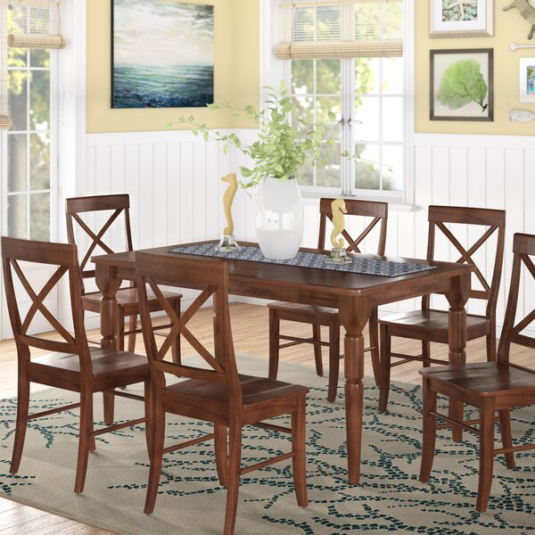 Bargain Brookwood 7 Piece Dining Set By Beachcrest Home 2019 Coupon