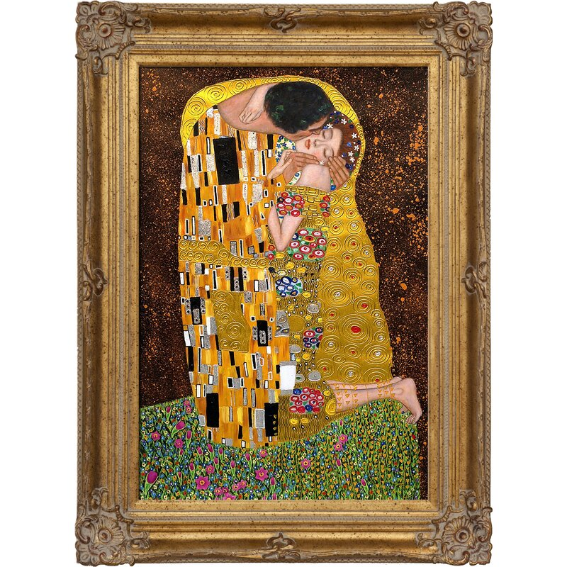 La Pastiche \'The Kiss full view Metallic Embellished\' by Gustav ...