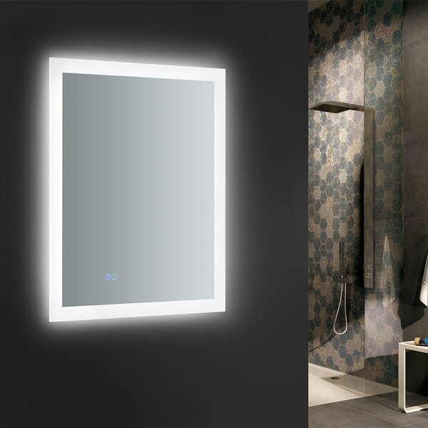 Angelo Bathroom Mirror with LED Lighting and Defogger by Fresca