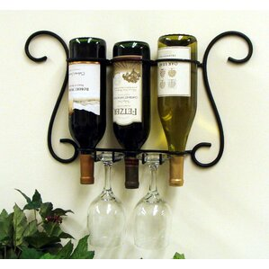 Birmingham 3 Bottle Wall Mounted Wine Rack by Fleur De Lis Living