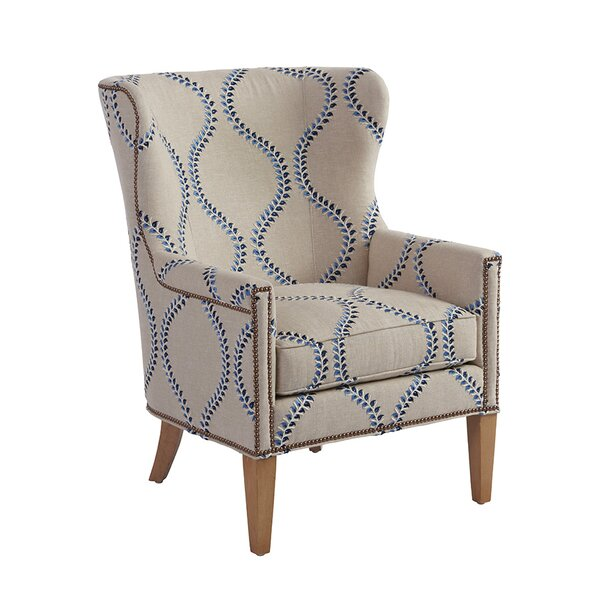 Avery Wingback Chair by Barclay Butera