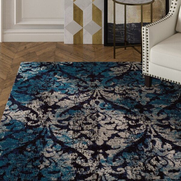 Bethzy Modern Blue Indoor/Outdoor Area Rug by House of Hampton