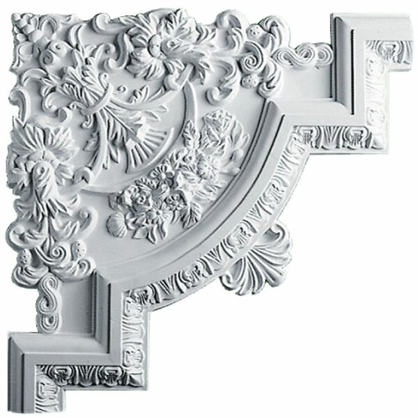 Emery 15 3/4H x 15 3/4W x 1 1/8D Panel Moulding Corner by Ekena Millwork
