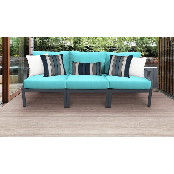 Benner Outdoor Aluminum 3 Piece Sectional Seating Group with Cushion by Ivy Bronx Ivy Bronx