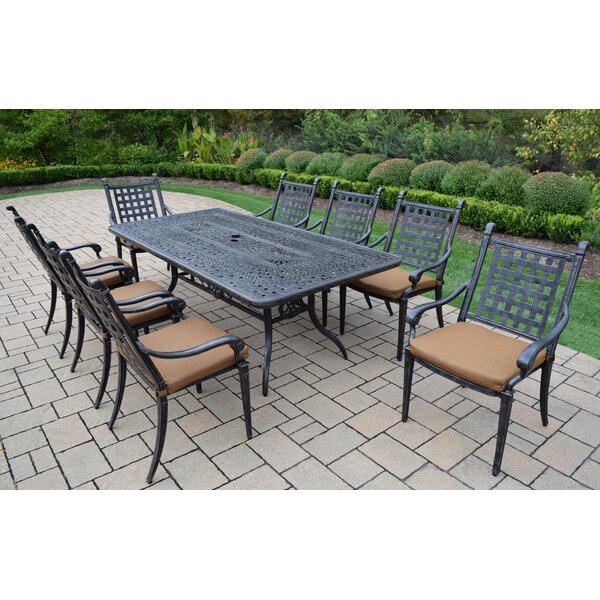 Vandyne 9 Piece Patio Dining Set with Cushions by Darby Home Co