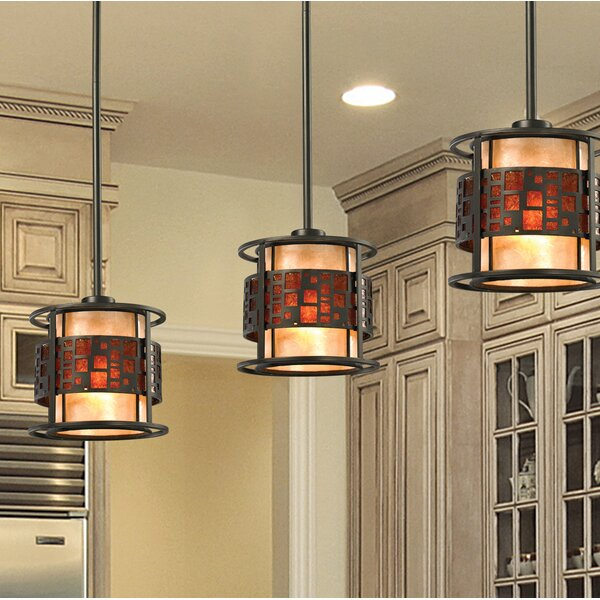 Hutto 1-Light Drum Pendant by Bloomsbury Market