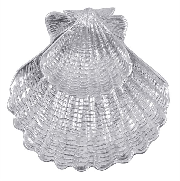 Seaside Scallop Chip & Dip Tray (Set of 2) by Mariposa