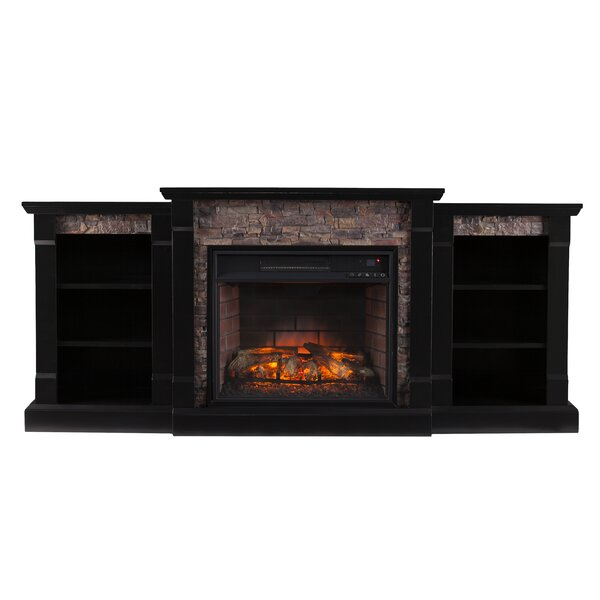 Shanks Black Wood Electric Fireplace By Alcott Hill