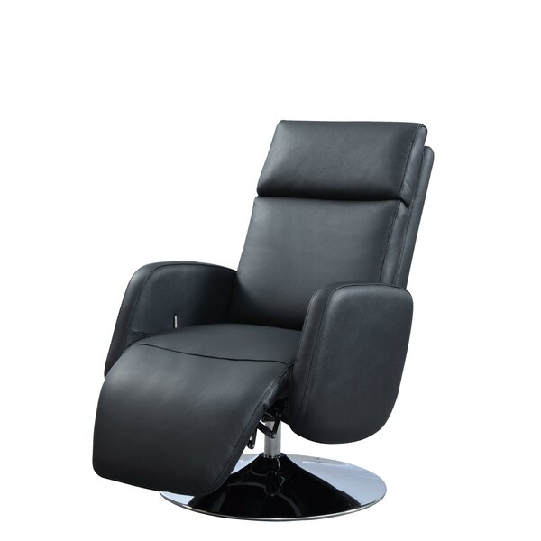 Maysville Leather Manual Recliner by Latitude Run