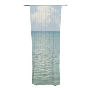 Cloud Reflection Graphic Print Text Sheer Rod Pocket Curtain Panels Set Of 2