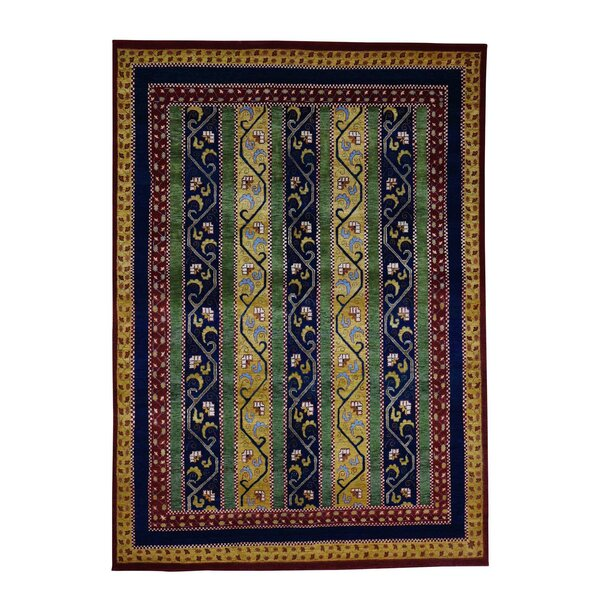 One-of-a-Kind Pickerel Shawl Oriental Hand-Knotted Red Area Rug by World Menagerie