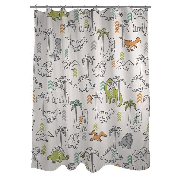 Baby Dinos Shower Curtain by One Bella Casa