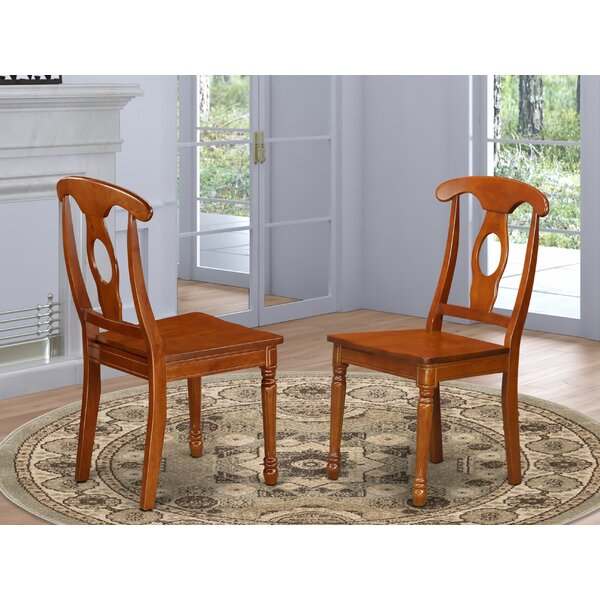 Pillsbury Solid Wood Queen Anne Back Side Chair In Saddle Brown (Set Of 2) By August Grove