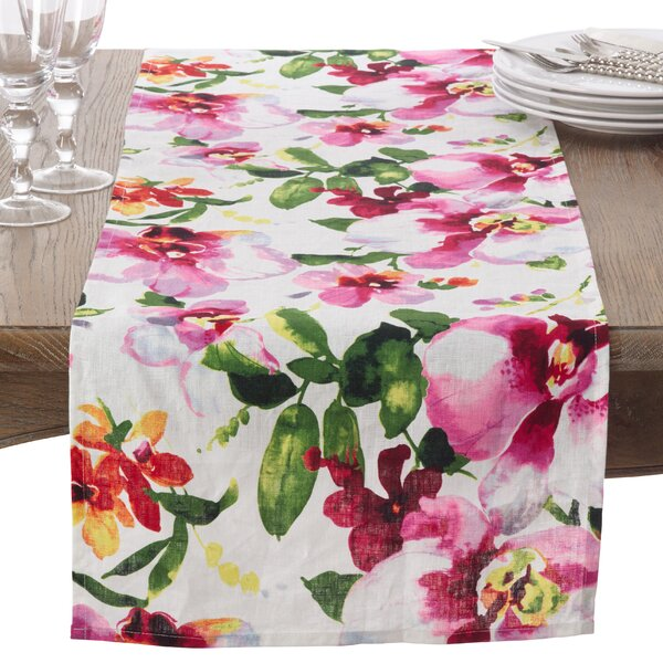 Fiore Table Runner by Saro