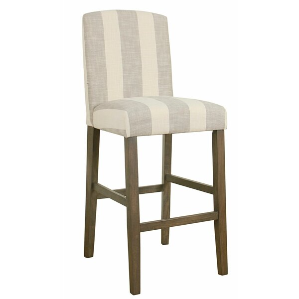 Sheila Fabric Upholstered Wooden Bar Stool by Highland Dunes Highland Dunes