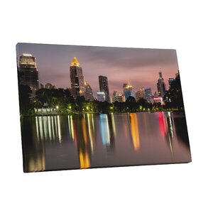 City Skylines Houston Photographic Print on Wrapped Canvas by Pingo World