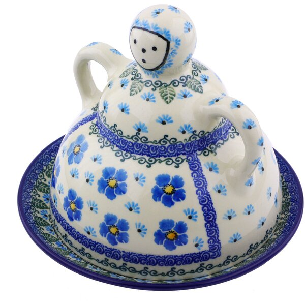 Forget Me Not Butter Dish by Polmedia