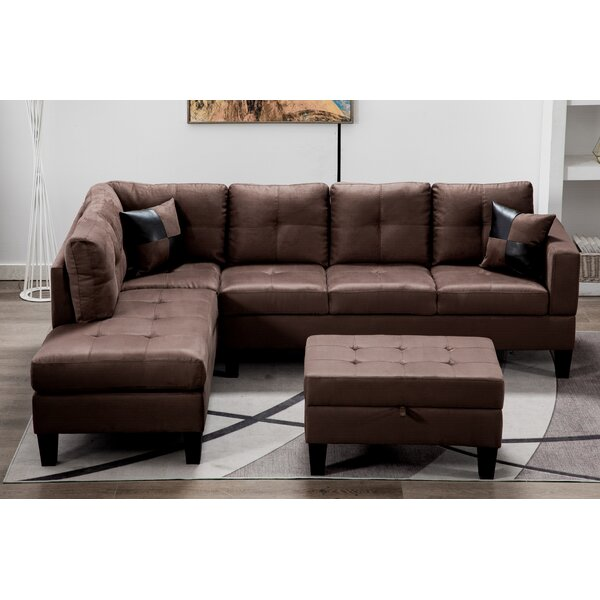 Destrier Sectional With Ottoman By Ebern Designs
