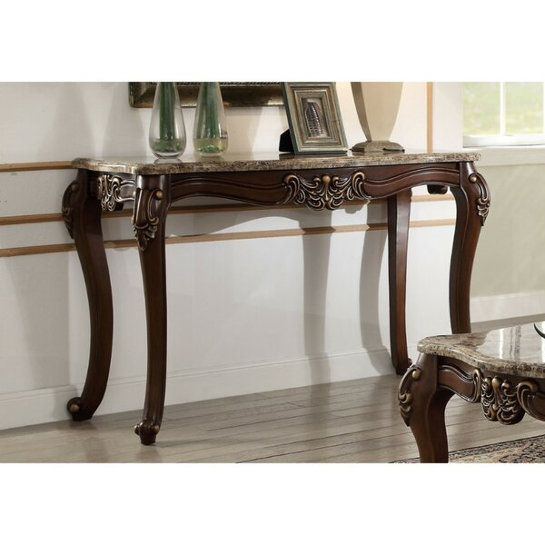 Unruh Marble Top Console Table by Astoria Grand Astoria Grand