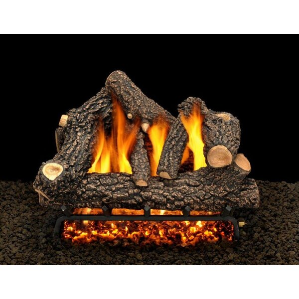 Cheyenne Glow Vented Propane/Natural Gas Fireplace Log Set By American Gas Log