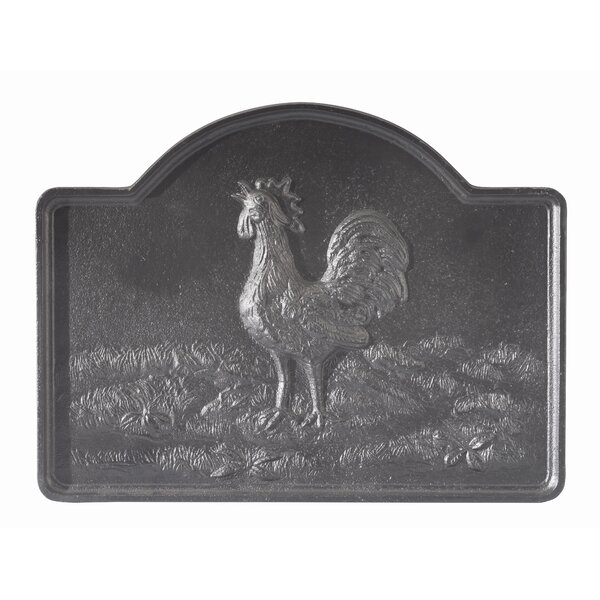 Rooster Cast Iron Fire Back by Minuteman International