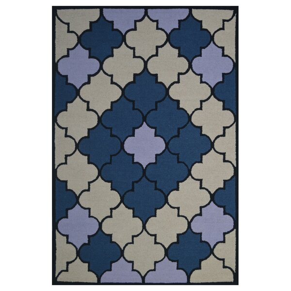Wool Hand-Tufted Blue/Ivory Area Rug by Eastern Weavers