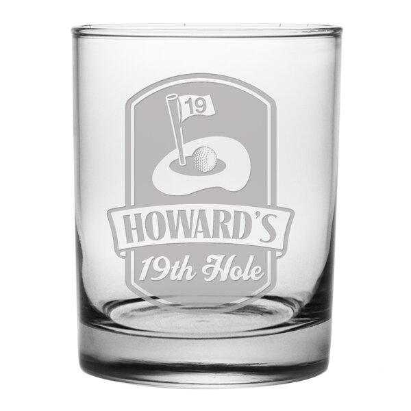 19th Hole Rocks Glass (Set of 4) by Susquehanna Glass