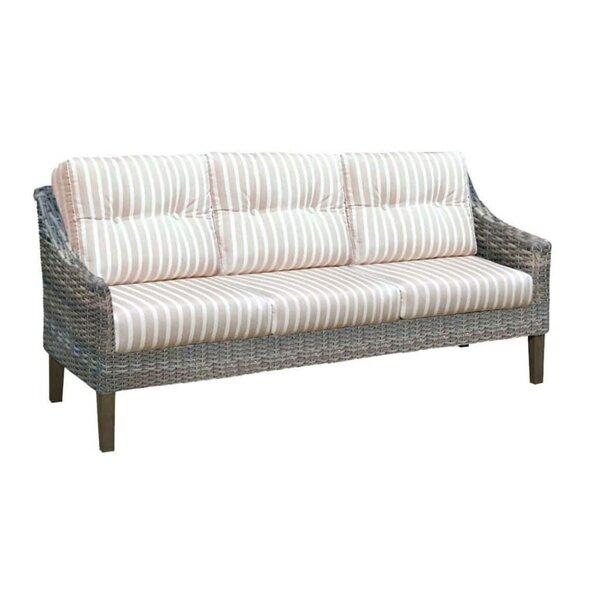 Denson Patio Sofa with Sunbrella Cushions by Highland Dunes