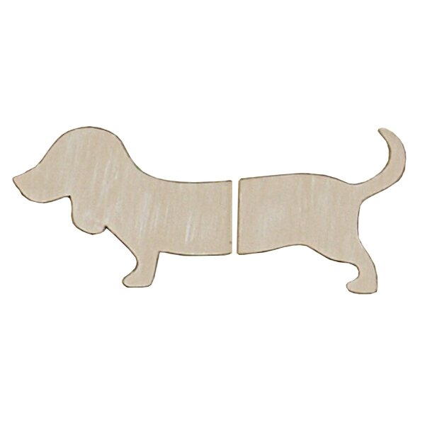 2 Piece Shaped Dachshund Wall Décor Set by Sadie & Scout