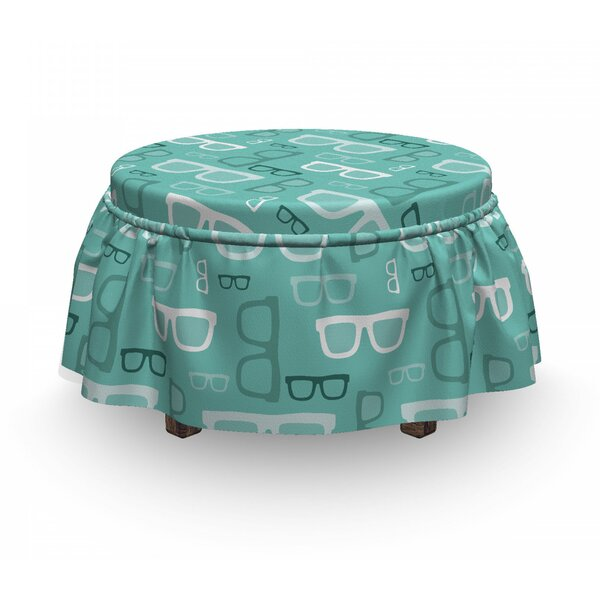 Doodle Glasses Ottoman Slipcover (Set Of 2) By East Urban Home
