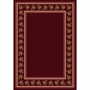 Great Price Kelesia Cranberry Rosalie Area Rug By Winston Porter