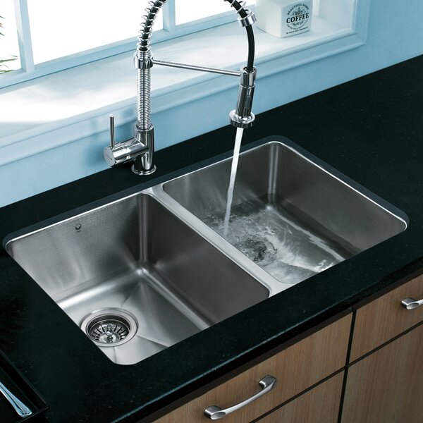 Alma 29 L x 19 W Double Basin Undermount Kitchen Sink by VIGO