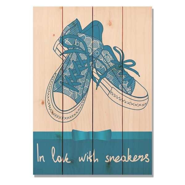 4 Piece Wile E. Wood In Love With Sneakers Graphic Art Set by Gizaun Art
