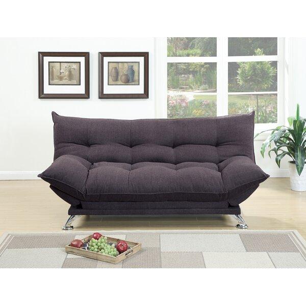 Maas Velvet Fabric Cushion Adjustable Convertible Sofa by Latitude Run