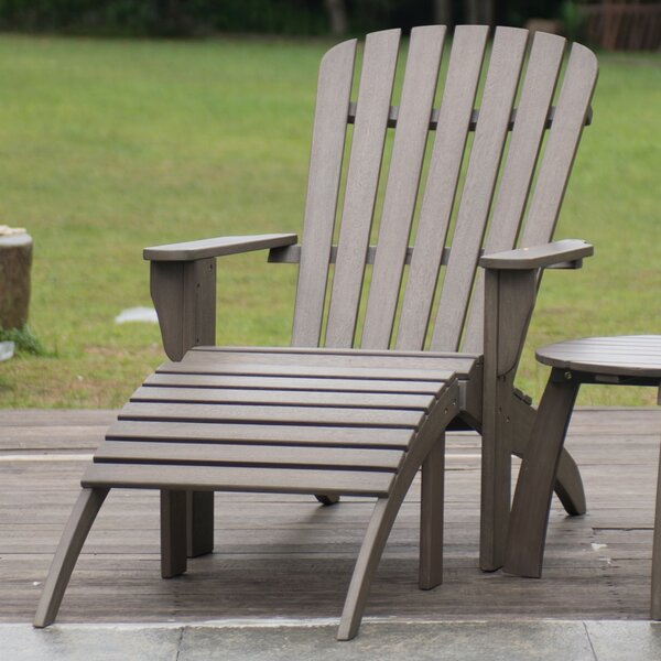Renley Solid Wood Adirondack Chair with Ottoman by Cambridge Casual