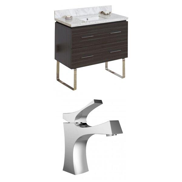 Kyra 36 Wood Single Bathroom Vanity Set with 2 Drawers