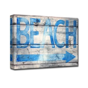 'Beach that Way' by Norman Wyatt Jr. Textual Art on Wrapped Canvas by Ready2hangart